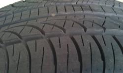 Here is a set of four Pirelli Zero Nero all season tires in perfect condition. They were test fitted and driven for only a week, the tires are great but my rims are too narrow for them. Consumer Reports rated them as the best all season UHP tire available