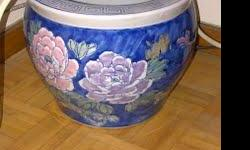 Planter Pots Ceramic Oriental Designer - $65 ((Yonge& College)) Planter Pots Ceramic Oriental Designer Planter Pots Ceramic Chinese Designer 2 pots beautiful Oriental Design. Large / small both NEW