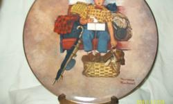 geniune hand painted china,artists are norman rockwell,stewart sherman,t.crnkvich and christian luckel. all are new in boxes. i have 22collector plates in total. make me an offer,call al at 613 336 0708.   i have autumn yearning,wishful thinking,a