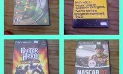 HI i am looking at selling these play station 2 games from 10.00 a game!!! the games i have are... -hot shots golf 3 -major league baseball 2k5 -guitar hero world tour -nascar 07 -need for speed carbon -fifa soccer 09 -smack down VS raw 08 -monster jam
