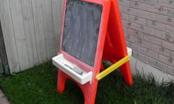 Kids Playskool chalk board easel.