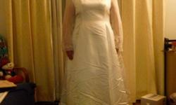 I hava a wedding dress for sale. excellent condition 24w Poety sleeves Paid 800.00 asking 150.00 if interested please contact. will take best offer