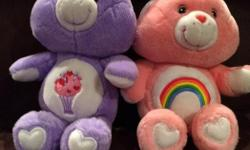 """Bigger ones $5 each and small ones $2 each. The whole lot for $40. Pet and smoke free home. 15"""" - $5 -Bunny Cheer Bear -Share Bear 13"""" - $5 -Good Luck Bear -Love-a-Lot Bear (singing) -Wish Bear -Share Bear 12"""" - $5 -Funshine Bear -Bedtime Bear -Surprise"""