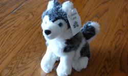 """New with tags, 4 - 'E18hteen Karat' brand name, 8"""" plush dog toys. New, they retail for $8 + tax each, making this a good deal at only $25 for the set of 4. These make great stocking stuffers, gifts for little and big kids, goodie bags, the daycare, etc."""
