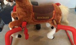Barely used ride on spring horse. Must go as soon as possible. Best offer takes it