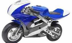 we Carry Gas AND Electric pocket bikes. we also carry replacement parts for Pocket bikes. DERAND Motorsport also sells: Auto Starts, Automotive Parts, Car Starter, Remote Starter, Air Filters, Air Deflectors, Alarm System, Amplifiers, Antennas, Bike Rack,