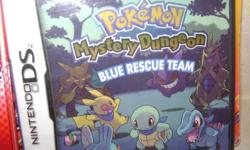Selling A Few Pokemon DS Games.   Pokemon Mystery Dungeon Blue Rescue Team With Strategy Guide.   Pokemon Mystery Dungeon Explorers Of Darkness With Strategy Guide And Explorers Guide   Asking $20.00 Each, Bought For Around $50.00 Each