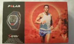 Polar S610i Heart rate monitor/watch. It has 260 hours of memory, 99 files and the ability to record heart rate readings in increments of 5, 15, and 60 seconds. In-depth performance data is recorded within the watch and downloadable into your computer.