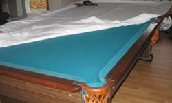 marble slate pool/ snooker table with acc. and billiard light asking $500.00 please call 705-725-1663