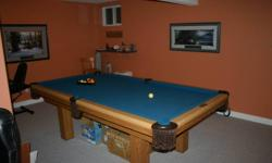 """54"""" x 98"""" pool table, complete with accessories Must be able to take apart and transport."""