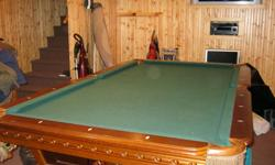 8x4 Belinger Pool Table for sale ( Synthetic Slate ) ... Excellent condition ...  Pool sticks and Pool stick rack included ... As well as some minor acessaries .. chalk .. billiard balls ... etc ... We are selling because we do not play anymore ... The
