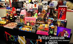 Selling your Collectibles ? Want to make the most money from your investment ? Ask about our consignment program . We promote and sell your stuff for you. Giving you more cash in your pocket without the work  .   Pop N Eye is now taking  80's collections,