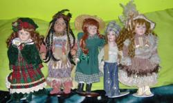 Collection of 20 porcelain dolls. Asking 10.00 ea. for the large ones and 5.00ea for the small ones.