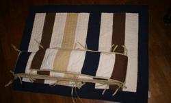 Pottery Barn crib bedding set for sale $40.00 great shape, very cute