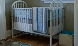 """For sale is a beautiful Pottery Barn Crib Set, in perfect condition. Included are matching: - Quilt (37' x 52"""") - retails for $121.48 plus tax - Crib Sheet - retails for 23.32 plus tax - Bumpers - retails for $121.48 plus tax - Pillow - retails for $30.06"""