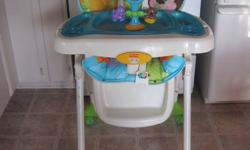 THIS PRECIOUS PLANET CHAIR HAS A 5 POINT HARNESS SYSTEM...REMOVABLE PAD...3 POSITION RECLINE.. 7 POSITION HEIGHT ADJUSTMENT.. REMOVABLE TRAY (DISHWASHER SAFE ) FOLDS EASY FOR STORAGE. IN EXCELLENT CONDITION.   $80.00     PLEASE CALL WAYNE 905-691-6889 OR