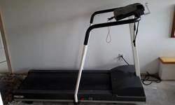 """Interactive Visual Heart Monitor,custom courses Width 32"""" at handrail Height 46"""" Incline 0-15% Power 50/60 HZ 2 HP motor Age 12yrs."""