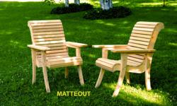 We are giving two of these brand new White CEDAR garden Chairs. All you need to do is visit our Facebook Page at www.facebook.com/matteout