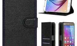 """Premium Luxury Leather Wallet-Style Case Flip Cover Stand For Alcatel Pixi 3 4.5"""" -Easy to Fit & Remove - Quick & Easy Magnetic Closure. -Stylish Slots/Pockets for Bank Card/Currency Notes. -Holder Inside The Case Ensures Steady & Secure Fit. - Made of"""