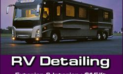 Tire On Site RV & Camper Detailing offers a professional RV & Camper cleaning and RV & Camper detailing service. This is a big investment and regular cleaning and detailing of an RV or Camper is an important part of maintaining the appearance and value.