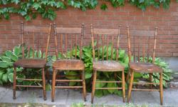 six press back chairs for sale at $25.00 each or the 6 for $125.
