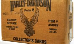 Harley Davidson Collector's Series 2 Card Factory - 1 SET FOR 35$; 2 SET FOR 60$; 3 SET FOR 75$; The 1992 Harley-Davidson Collector's Series 2 Trading Card Factory Set. Set contains 100 Premium Collector's Cards. Set not opened and still sealed by Factory