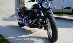 FOR SALE: 2007 YAMAHA V-STAR CUSTOM, BLACK, NEVER BEEN DUMPED, GOOD FOR INSURANCE RATES, MINT CONDITION, LIKE NEW 9000MILES, 4000 FIRM, MUST SELL, NO ROOM.   SERIOUS BUYERS ONLY PLEASE EMAIL OR CALL 519-381-0361(SARAH)
