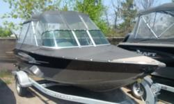 sport 172 with 115 hp merc 4 stroke and trailer full high top am fm Bluetooth stereo travel cover ladder lowrance x4 sonar only used 2 summers low hours $33,500 to replace
