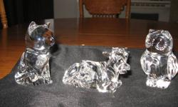 I have some princess house crystal animals I am asking $15 each for these   I also have crystal christmas ornaments  $20. takes the set