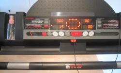 Pro-form EKG Grip Pulse Treadmill Millennium Drive model J8Ii with multi-level programs and incline functionality. Treadmill is foldable, works great and it is in excellent condition.