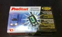 I'm selling a brand new ProStart car starter for automatics. It's never been installed, packages never opened and contains every part. Features: Two way communication Remote command feedback 2000 foot range Backlit LCD remote Selectable vibrate or melody