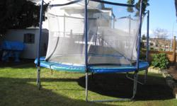 This is a professional grade 14 ft trampoline with full safety net. New it cost over $1400. Excellent condition.
