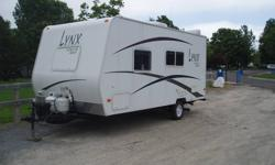 Great weekend camper 18' 1 bed, fold down dinette, hot water, furnace, air conditioning, fridge freezer, microwave it has everything, awning, super clean, also comes with hitch gear, propane gas test, filled tanks. Contact mike in sales.