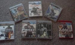 PS3 games for sale bought system and most of these games came with it and am just not interested in these. all games are great condition and working order.   all games are OBO...make offer for bundle of games and get deal. email usually email back that