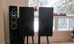 2 (two) PSB speakers model psb 40mk11505135 2 (two) stands