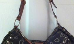 I have 2 Guess Purses Smaller one only used once, and a larger brown one. Asking 60.00 for the smaller black one, and 30.00 for larger brown one.   *BRAND NEW WITH TAGS GUESS Purse, Paid 140.00 asking 100.00. Still has protective plastic on guess symbol