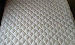High quality firm queen size mattress, 10 years old. Bed frame not included ($140 extra).
