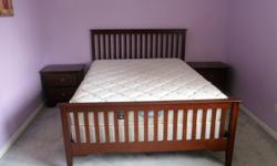 hardly used mattress, box and bed frame. Double bed mattress free with this deal