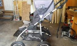 I am selling a Quinny stoller and car seat/carrier.  Car seat/carrier in new condition, stroller shows signs of minor wear and tear but is in excellent condition.  4 inflatable wheels (great int he snow), hand break and padded handle.  $125.00 obo Sorry