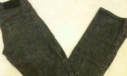 Ransom (RAW DENIM) Jeans Slim Straight/Skinny Black 28x34 $20
