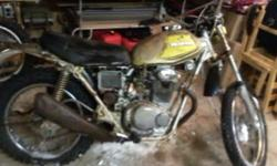 """vintage 72 SL 350 """"Farm fresh """" as they say motor was running when it was parked in the early 90's bike has 884.4 miles on it , but over time has seized up, kick starter is missing, tires need replacing. this would be a perfect winter project for someone."""