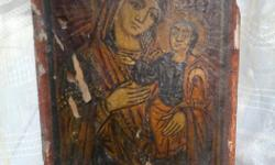 This byzantine religious icon estimated from the 10th century, is acceptable any checking.