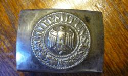 RARE WWII GERMAN BELT BUCKLE IN GREAT CONDITION AND HIGHLY COLLECTABLE.  LOCATED IN ELLIOT LAKE.