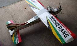 Boomerang trainer airplane 40 size complete with radio 40 size motor ready to fly phone 519 794 3481