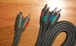RCA component video cable RGB 6 feet long - to connect a video source to TV