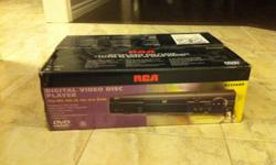 - RCA DVD player with remote - a second remote (universal remote) control also included
