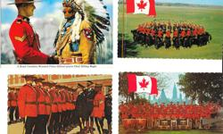 Lot of 26 RCMP postcards, dating from 1957 to the 1970's. Includes lots of great Ottawa scenery and RCMP images with spectacular color throughout. 14 of the 24 postcards are unused and most of these are in protective plastic sleeves. Asking only $25 for