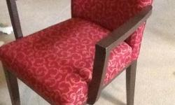 Very nice Red Chair with dark wood Legs. Asking $65.00 obo Delivery available locally for a small fee. Check out my other ads for more neat furniture etc...