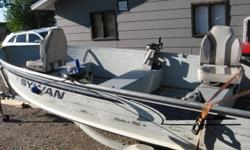 A true Deep and Wide, 2 swivel seats, galvanized trailer,  manual downriggers with rod holders, 2 downrigger balls with releases, anchor and rope, brand new tank and hose, runs great and excellent on fuel, long shaft boat. Does not leak a drop. $2700obo.