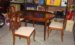 I have a Beautiful Gibbard Chantilly Dining Set Oval Table with 4 Chairs for sale. This is in excellent condition and would look great in your home or to give as a gift. Features: * High quality Gibbard mahogany dining room table and 4 chairs * Solid
